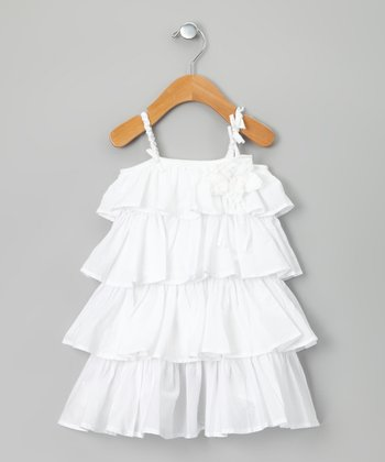 White Chanterelle Dress - Toddler & Girls