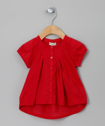 Red Cracotte Blouse - Infant, Toddler & Girls