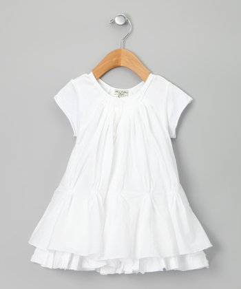 White Crocusotte Dress - Infant, Toddler & Girls