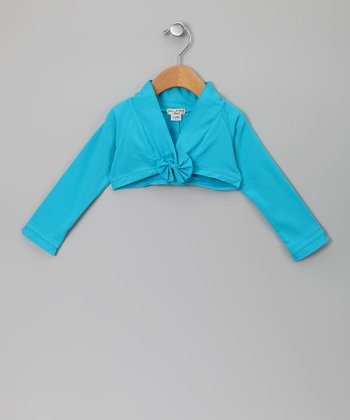 Turquoise Gargotte Shrug - Infant, Toddler & Girls