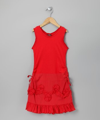 Red Ishtar Dress - GIrls