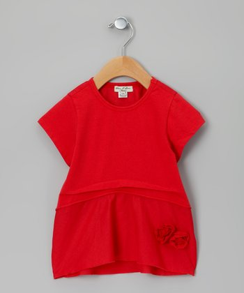 Red Jugeotte Tunic - Infant, Toddler & Girls