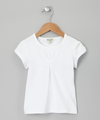 White Jumelle Tee - Girls