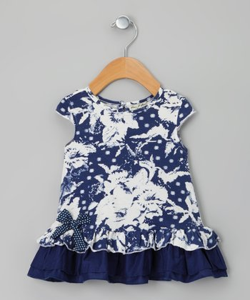 Indigo Linotte Dress - Infant, Toddler & Girls