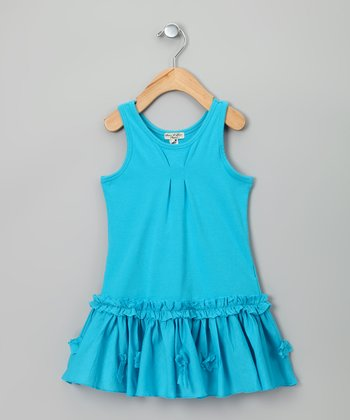 Turquoise Litotte Dress - Infant, Toddler & Girls