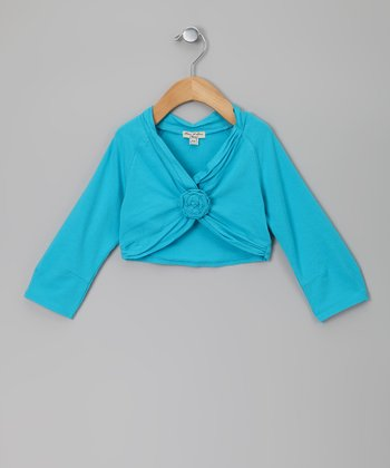 Turquoise Plurielle Shrug - Toddler & Girls