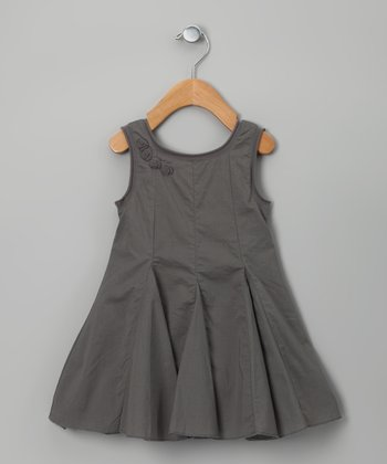 Gray Pucelle Dress - Toddler & Girls