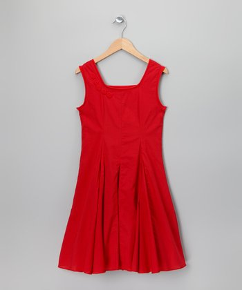 Red Pucelle Dress - Toddler & Girls