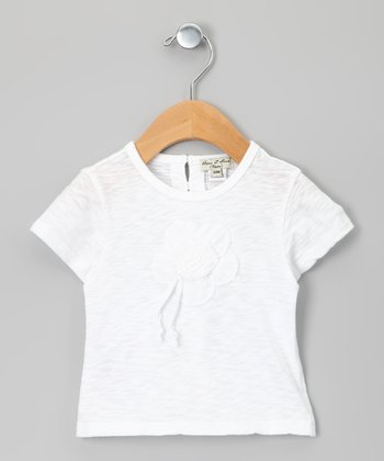 White Quenotte Tissue Tee - Infant, Toddler & Girls