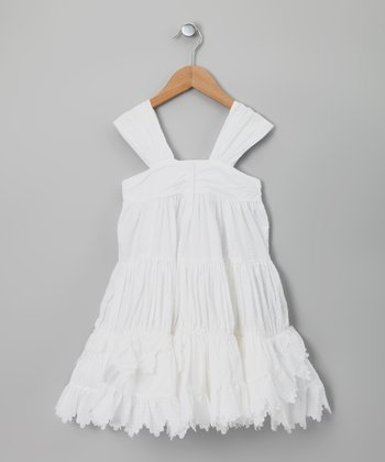 White Tourterelle Dress - Girls