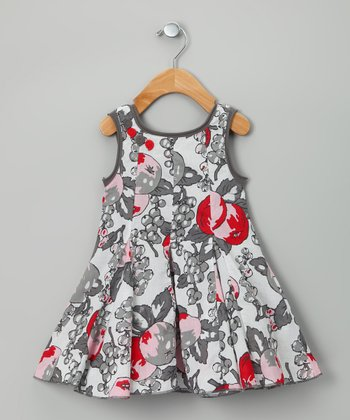 Gray Fruit Virtuelle Dress - Toddler & Girls
