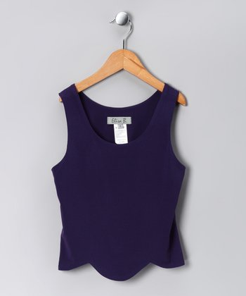 Purple Crazy Daisy Tulip Tank