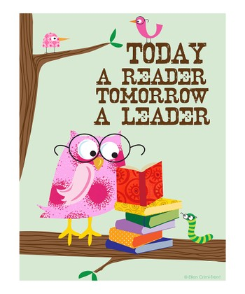Pink 'Today a Reader, Tomorrow a Leader' Print