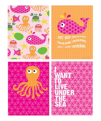 Pink 'Under the Sea' Print Set