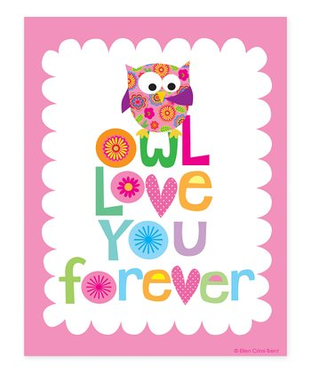 Pink 'Owl Love You Forever' Print