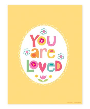 Peach 'You Are Loved' Print