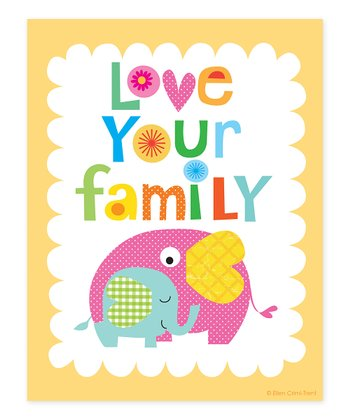 Peach 'Love Your Family' Print