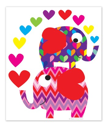 Elephants & Hearts Print