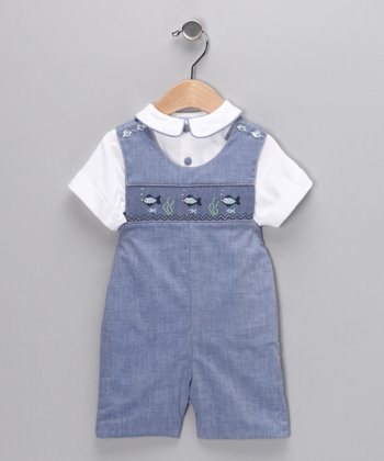Chambray Fish John Johns - Infant