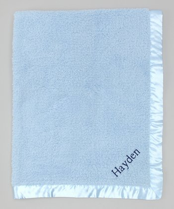 Blue Personalized Stroller Blanket