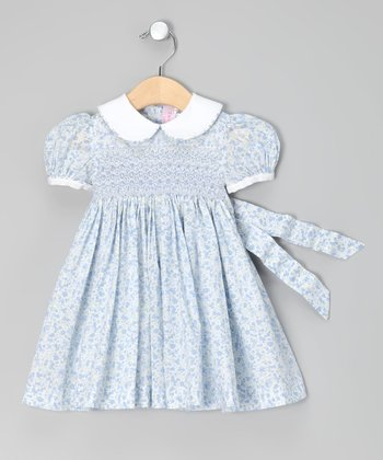 Emily Lacey Blue Jasmine Smocked Dress - Infant, Toddler & Girls