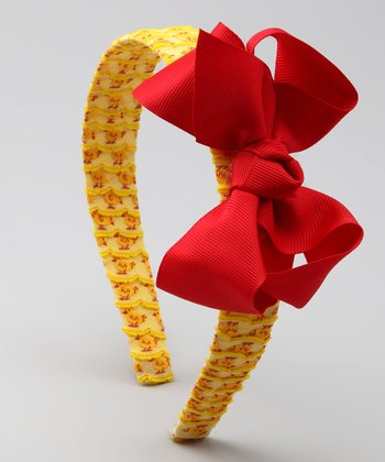 Yellow Baby Chick Bow Headband