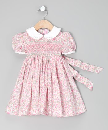 Pink Roma Floral Smocked Dress - Infant, Toddler & Girls