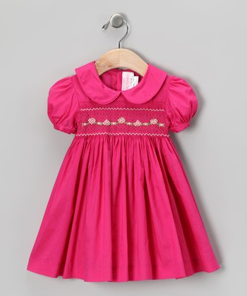 Emily Lacey Ruby Flower Smocked Dress - Infant, Toddler & Girls