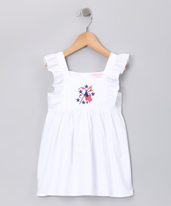 White Flag Pinafore Dress - Infant & Girls