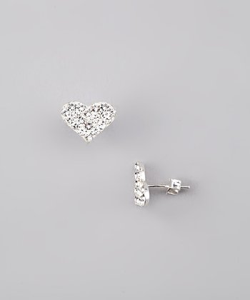 Crystal Pavé Heart Earrings