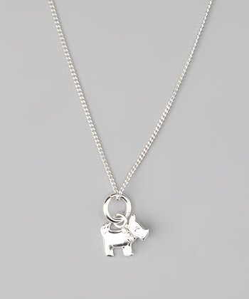 Sterling Silver Scottie Dog Pendant Necklace