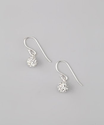 Crystal Pavé Ball Earrings