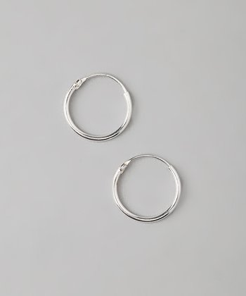 15-mm Sterling Silver Hoop Earrings
