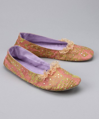 Pink Sequin Ballet Slipper