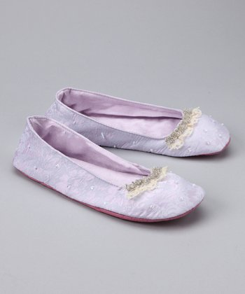 Lavender Sequin Ballet Slipper
