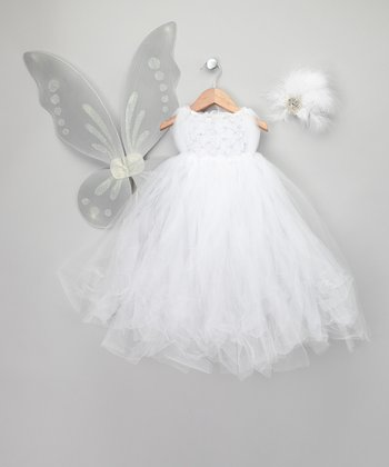 White Snow Fairy Dress-Up Set - Infant, Toddler & Girls