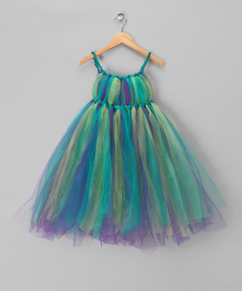 Peacock Fairy Dress - Toddler & Girls