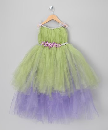 Green & Purple Tink Dress - Toddler & Girls