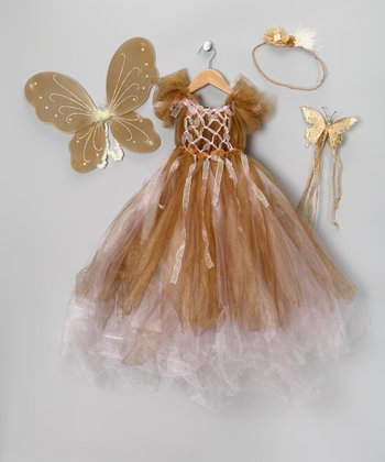 Gold Valentine Angel Dress Set