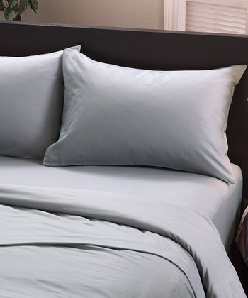 Light Gray Oxford King Sheet Set