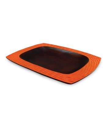 Enrico Tangerine Orange Mango Wood Serving Platter