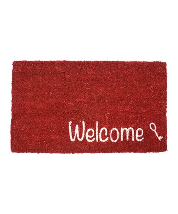 Key 'Welcome' Handwoven Doormat