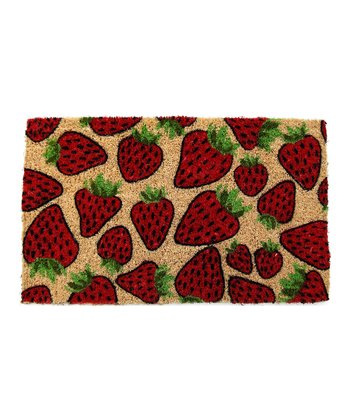 Strawberry Handwoven Doormat