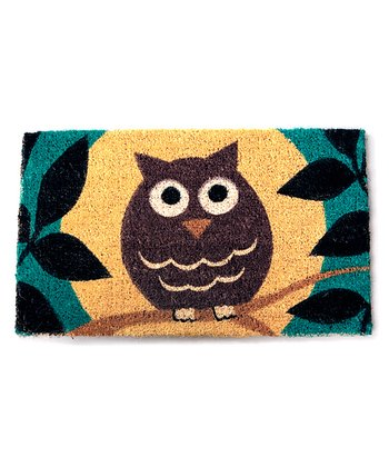 Wise Owl Handwoven Doormat