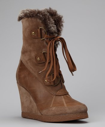 Brown Ashton Wedge Boot