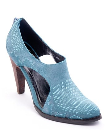 Blue Leather Bee's Knees Pump