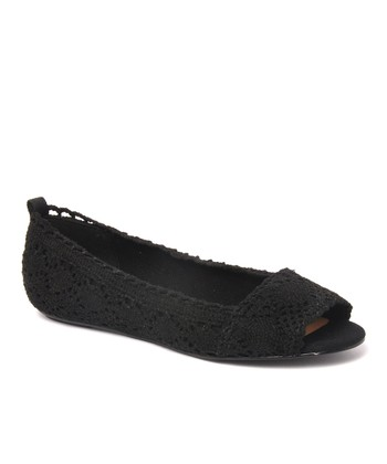 Black Box Office Peep-Toe Flat