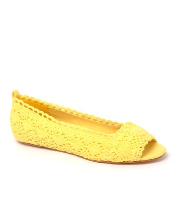 Yellow Box Office Peep-Toe Flat