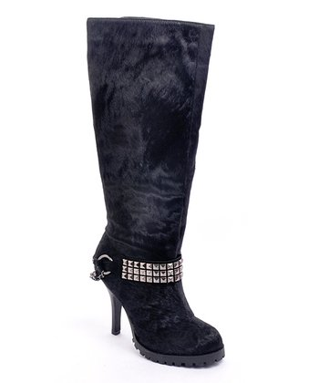 Black Pony Hair Crackalackin Boot