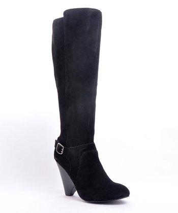 Black Suede Corrie Boot